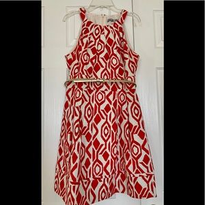Eliza J sleeveless ikat print dress